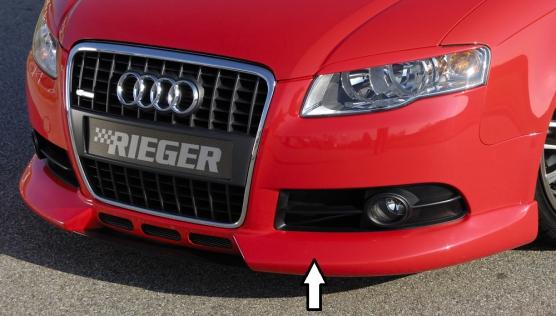 Audi A4 8E B7 04- S Line Front Lip Spoiler (3 Slot) - ABS