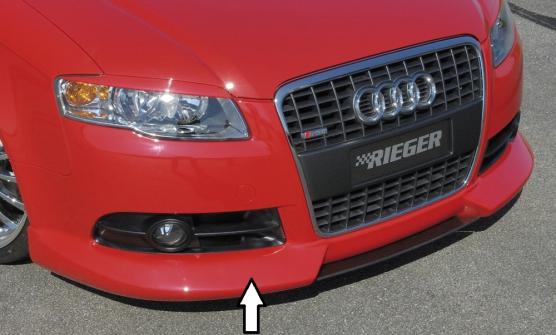 Audi A4 8E B7 04- S Line Front Lip Spoiler - ABS