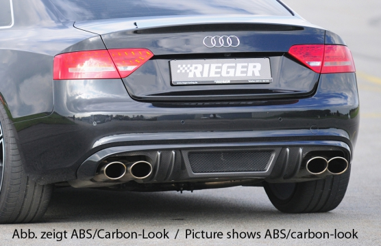 Audi A5 & S5 B8:B81 Rear Skirt Insert  - ABS/Carbon