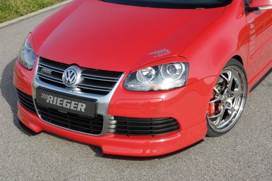 VW Golf 5 R32 Rieger Front Lip Spoiler - ABS