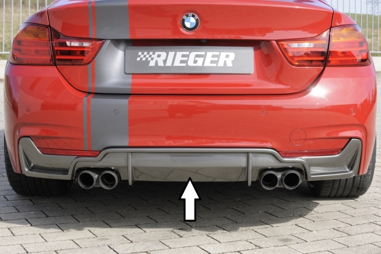 BMW 4 Ser (12-) 435i Look Rear Insert/Diffuser- Carbon