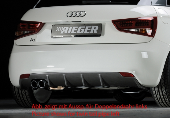Audi A1 (10-14) 3 & 5 Dr Rear Bumper Diffuser - ABS/Carbon