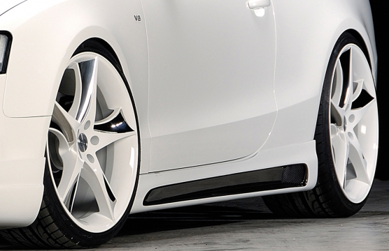 Audi A5:S5 B8:B81 Rieger Vented Side Skirts - ABS/Carbon