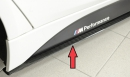 Rieger side skirt extension carbon