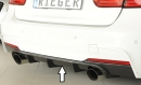 Rieger rear skirt insert carbon