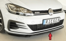 Rieger front splitter only for GTI/GTD/GTE